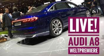YouTube-Video: Die Technik-Highlights im neuen Audi A8 - Live von der Weltpremiere!