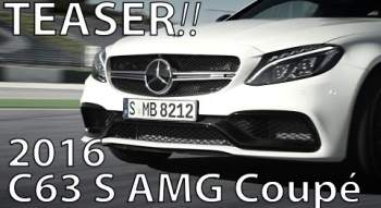 YouTube-Video: 2016 Mercedes AMG C 63 S Coupé | Rennstrecke / Teaser