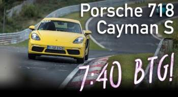 YouTube-Video: 7:40 | Porsche 718 Cayman S | Nordschleife BTG | 29.09.2017