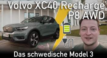 YouTube-Video: 2021 Volvo XC40 Recharge P8 AWD 🔋 Test: Das schwedische Model 3? | passion:driving