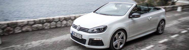 Ausfahrt im VW Golf R Cabriolet – Weisser Rauch am Strand