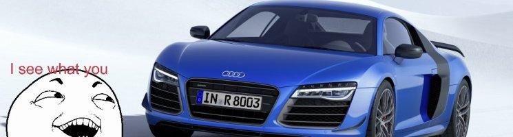 Kalte Füße in Ingolstadt und der Audi R8 LMX mit Laserlicht
