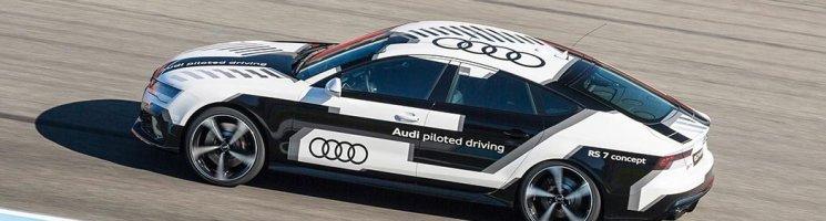 Audi RS7 piloted driving concept: Fahrerlos über die Rennstrecke – Anzeige