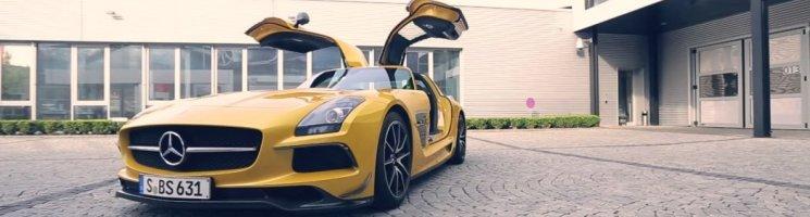 Michelin und das Flügelmonster: der SLS AMG Black Series – Anzeige