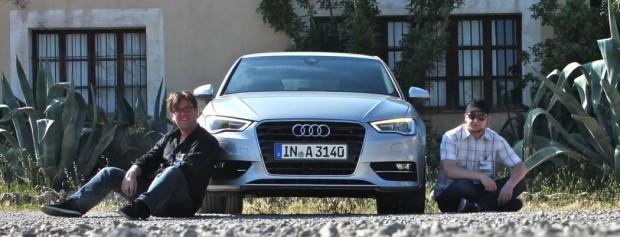 Audi A3 - Alex, der Probefahrer und meine Wenigkeit