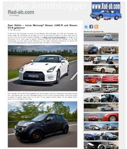 Juke-R und GT-R bei rad-ab.com