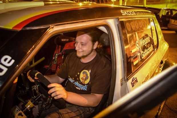 Platz nehmen im Škoda Fabia S2000