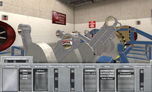 Automation - Nahaufnahme der ausgewählten I-Pleuel