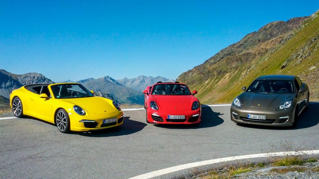 3 Porsche am Stilfser Joch