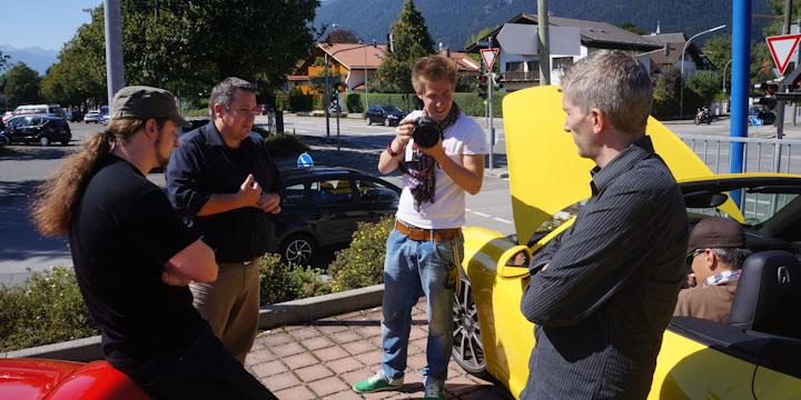 Kurzer Stopp in Garmisch: sind noch alle da?