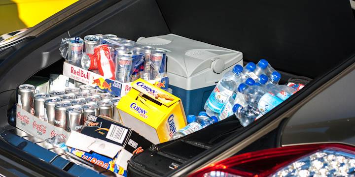 Für Proviant ist gesorgt - der Kofferraum des Panamera fasst einiges