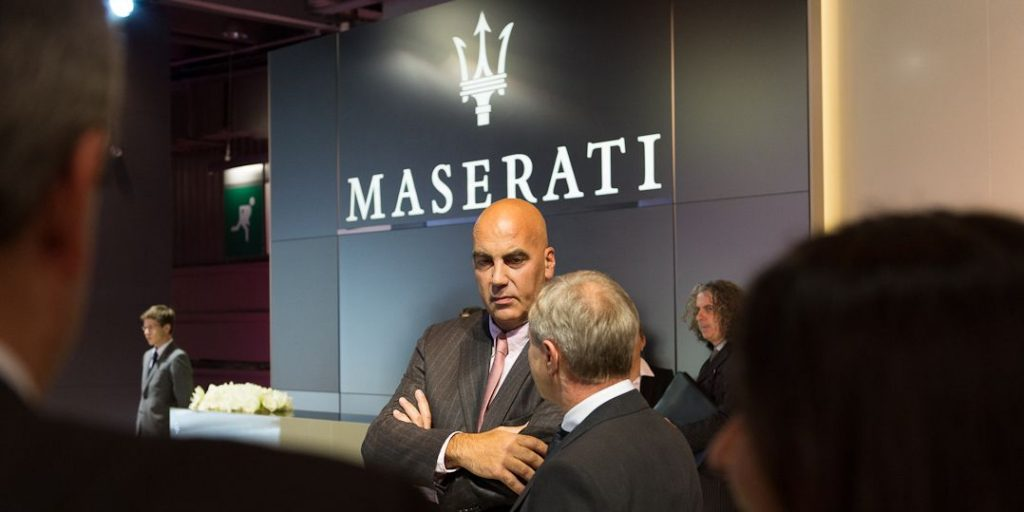 Maserati CEO Harald J. Wester und Bowers & Wilkins Vice President Jan Evert Huizing