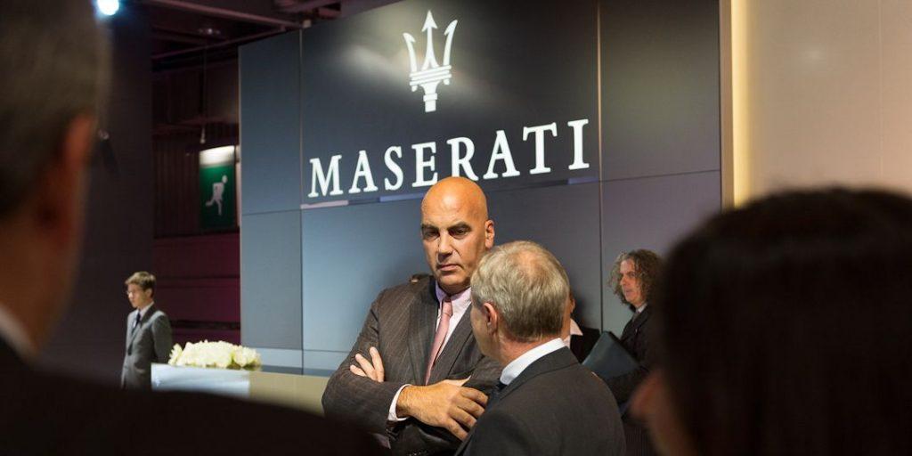 Maserati CEO Harald J. Wester und Bowers & Wilkins Vice President Jan Evert Huizing