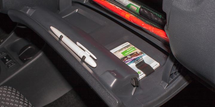 Škoda Fabia RS - Halterungen im Handschuhfach