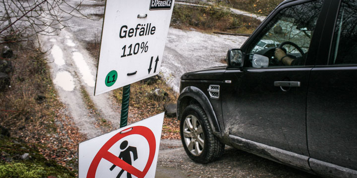 Land Rover Experience - 110% Gefälle