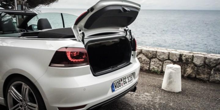 VW Golf R Cabriolet Kofferraum
