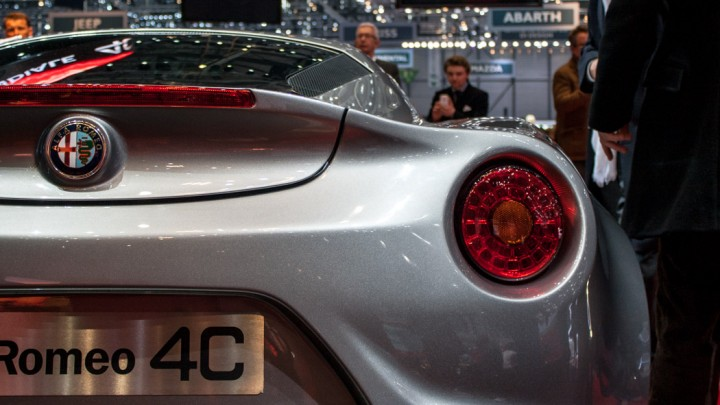 Alfa Romeo 4C in Genf Heck