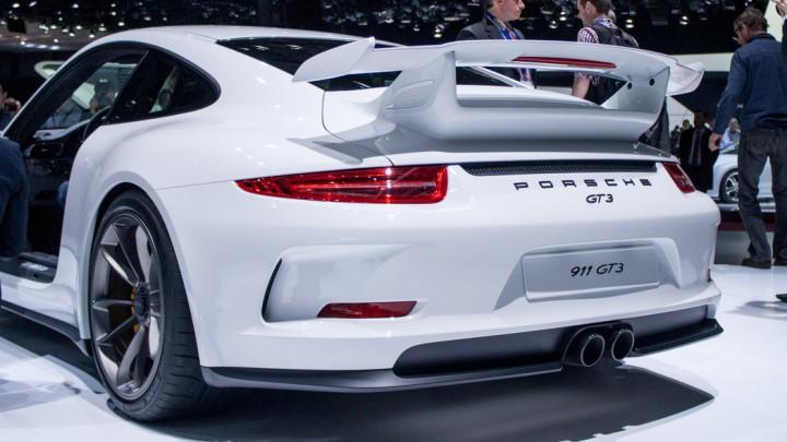 Porsche 911 GT3 991 Genf Heckansicht