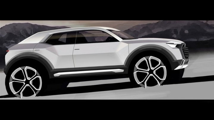 Audi Q1 Studie, Konzept, Skizze