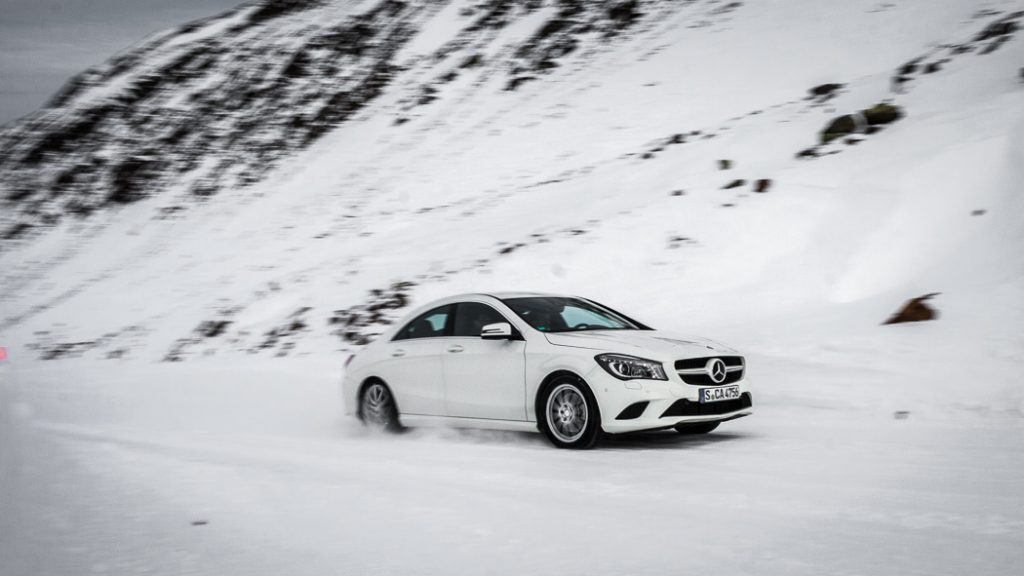 Mercedes-Benz CLA 250 4MATIC am Timmelsjoch