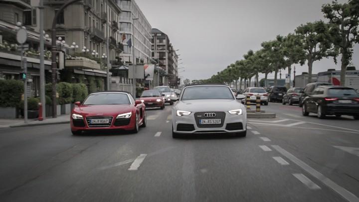 #thepluses2 in Genf - Audi R8 V10 Spyder RS5 Cabriolet