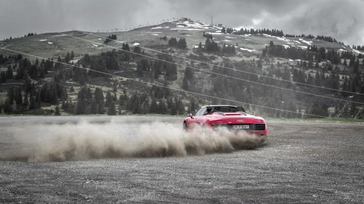 #thepluses2 - Audi R8 V10 Spyder im Drift am Col des Saisies | Route des Grandes Alpes, Frankreich, France