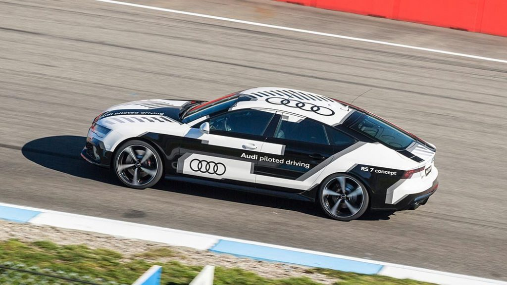 Audi RS7 piloted driving concept DTM Hockenheimring