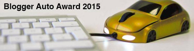 Blogger Auto Award 2015