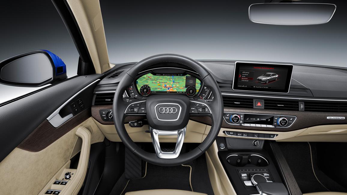 Vorstellung neuer 2016 audi a4 b9 als limousine avant for Audi a4 interieur