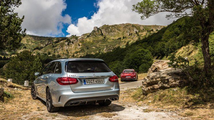 #thepluses3 - Pyrenäen: Col de Palheres / Mercedes-Benz C450 AMG & Nissan GT-R
