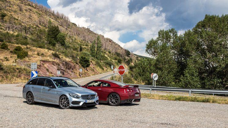 #thepluses3 Pyrenäen Roadtrip - Nissan GT-R und Mercedes-Benz C450 AMG am El Cantó