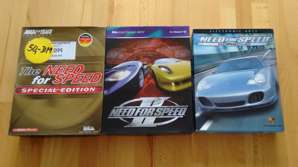 """Meine wichtigsten """"Need for Speed""""-Titel"""