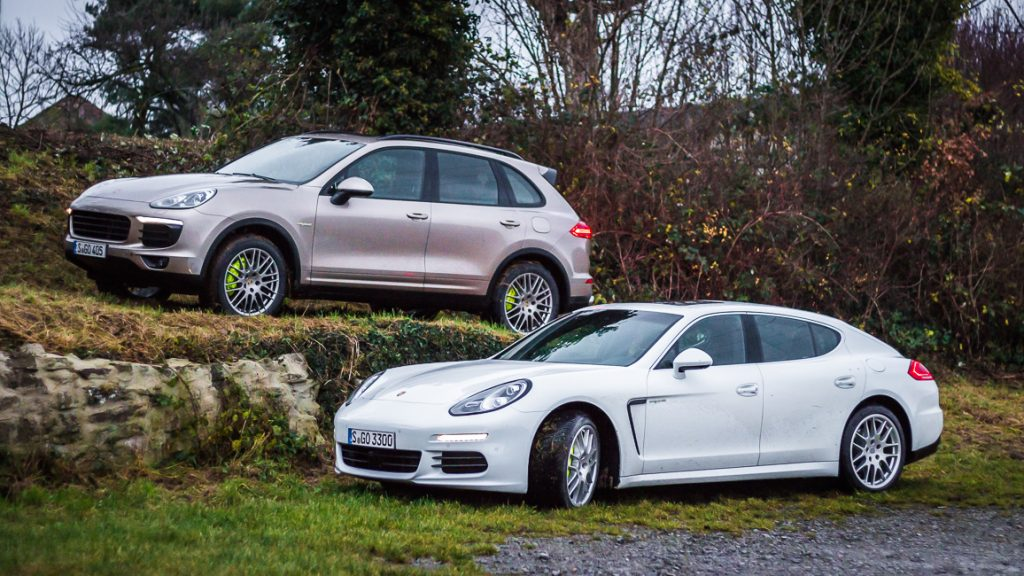 Porsche Panamera S E-Hybrid und Porsche Cayenne S E-Hybrid im Doppeltest