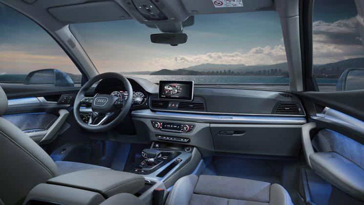 Ambiente-Lichtpaket im neuen Audi Q5