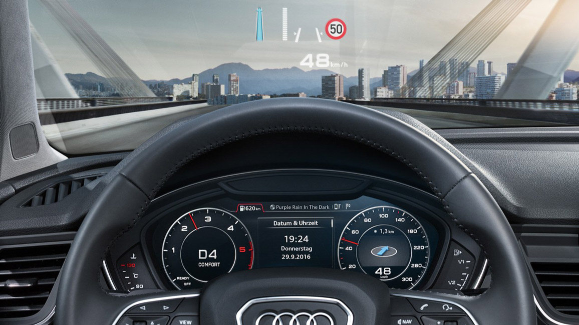 das cockpit und infotainmentsysteme im neuen audi q5. Black Bedroom Furniture Sets. Home Design Ideas