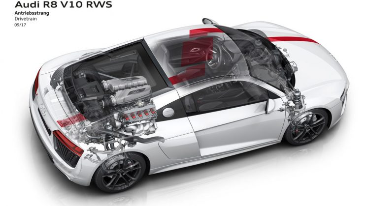Audi R8 V10 RWS Antriebsstrang