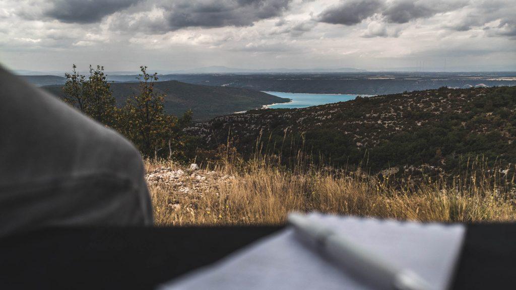 Blick auf den Lac de Saint-Croix