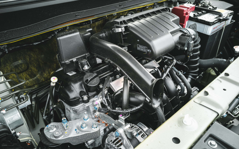 1 Liter Hubraum, 3 Zylinder, 71 PS