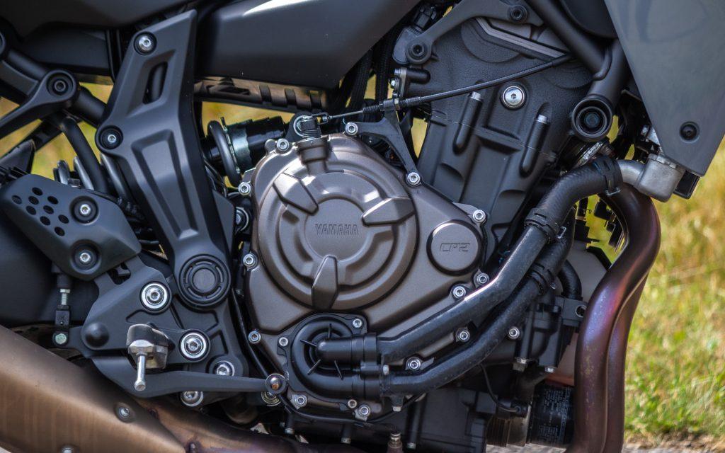 Kraftwerk und Freudenspender: Der CP2-Motor, ein Reihenzweizylinder mit 270 Grad Hubzapfenversatz begeistert mit sattem Drehmoment auch aus niedrigen Drehzahlen.